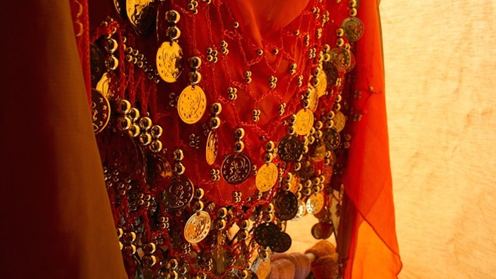 belly dance coin scarf